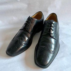 Cole Haan Black Leather Wing Tip Dress Shoes 12